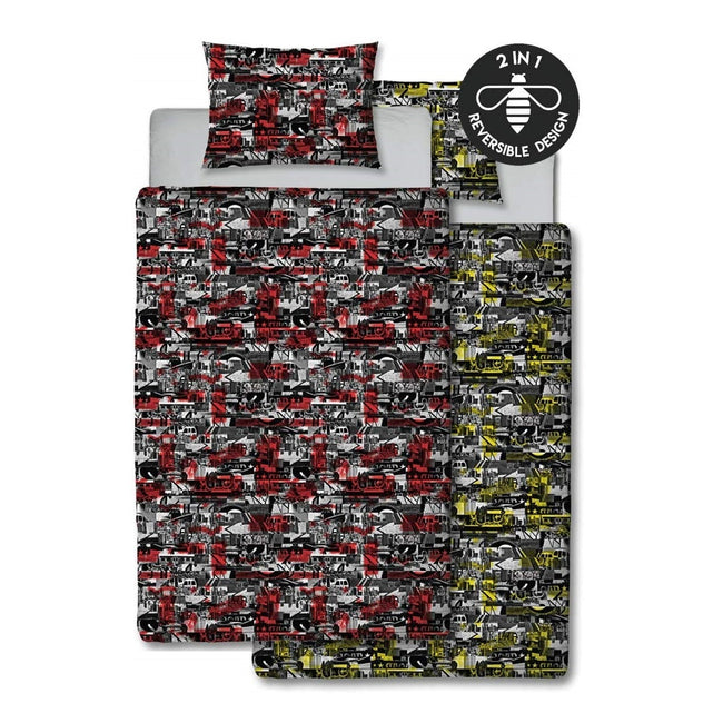 Red-Yellow - Back - Hive Urban Decay Rotary Duvet Cover Set