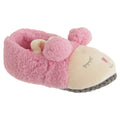 Pink - Front - Slumberzzz Childrens Girls Slip On Sheep Slippers