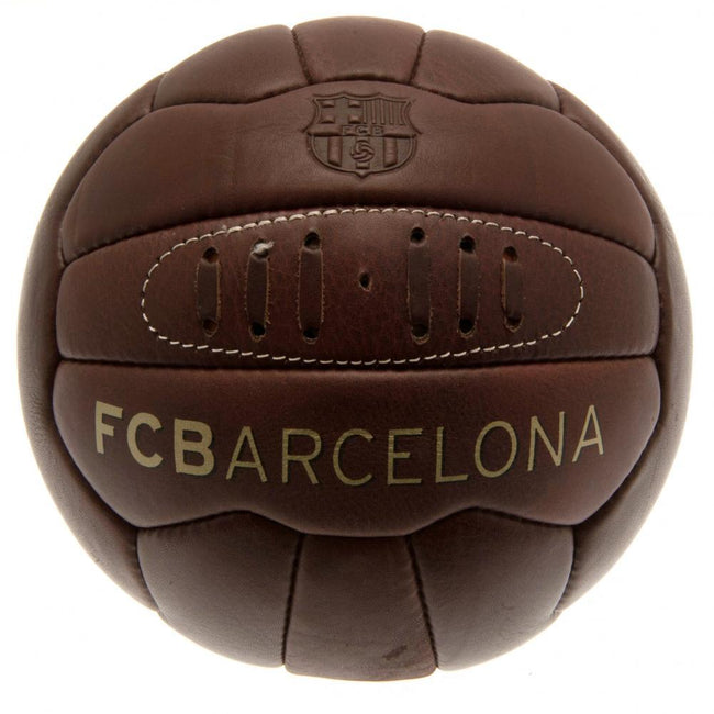 Brown - Front - FC Barcelona Official Retro Heritage Ball