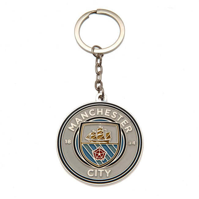 Multicolored - Front - Manchester City FC Keyring