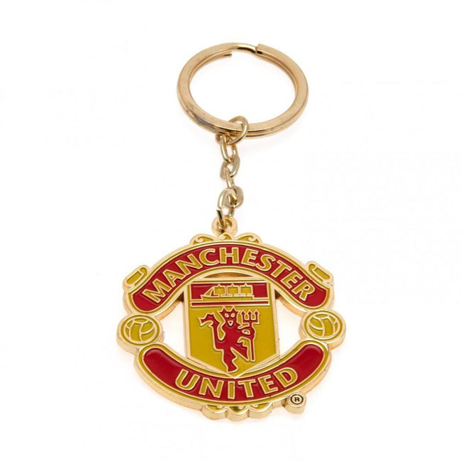 Yellow-Red - Front - Manchester United FC Keyring