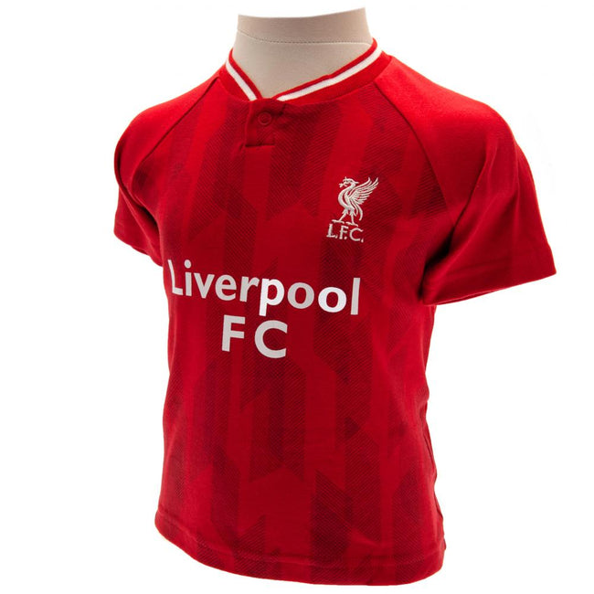 Red - Side - Liverpool FC Childrens-Kids 2018-19 T Shirt And Short Set