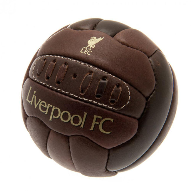 Brown - Front - Liverpool FC Retro Heritage Mini Ball