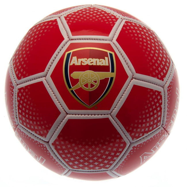Red - Front - Arsenal FC Dots Soccer Ball