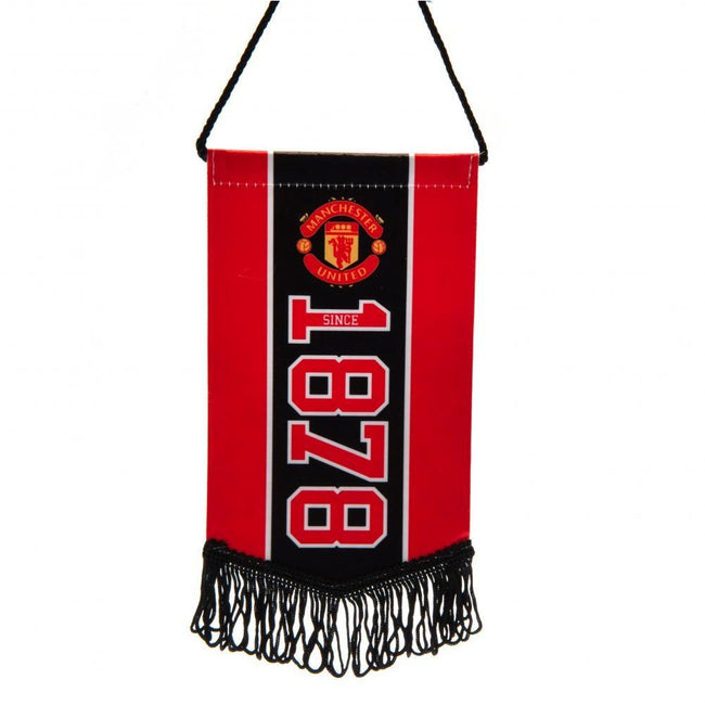 Red - Front - Manchester United FC Since Mini Pennant