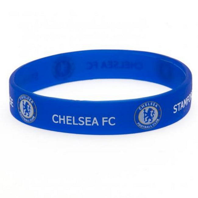 Blue - Front - Chelsea FC Silicone Wristband