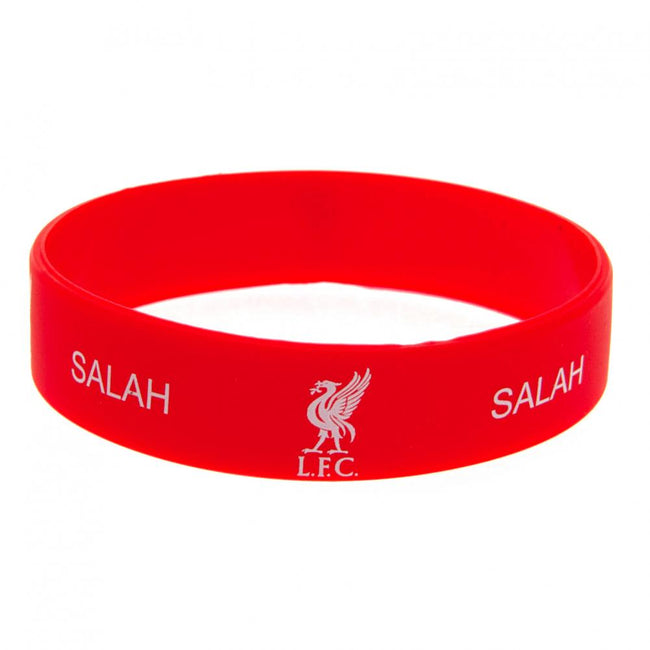 Red - Back - Liverpool FC Salah Silicone Wristband