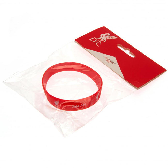 Red - Side - Liverpool FC Salah Silicone Wristband