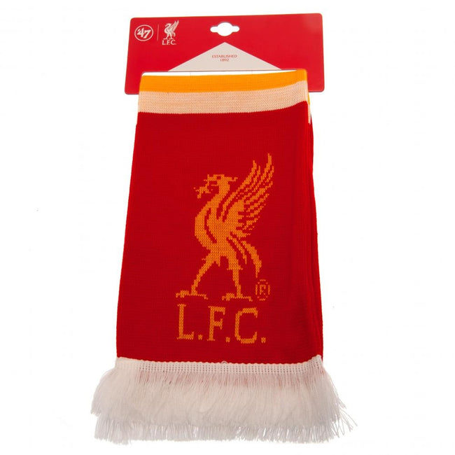Red-Yellow - Front - Liverpool F.C. Stripe Scarf
