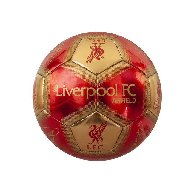 Red-Gold - Front - Liverpool FC Signature Skill Ball