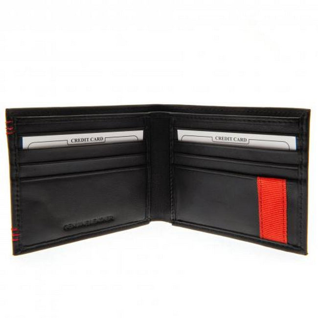 Black - Back - Liverpool FC Unisex Adults Leather Stitched Wallet