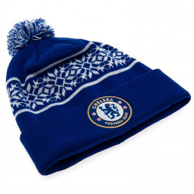 Blue-White - Back - Chelsea FC Unisex Adults SF Ski Hat