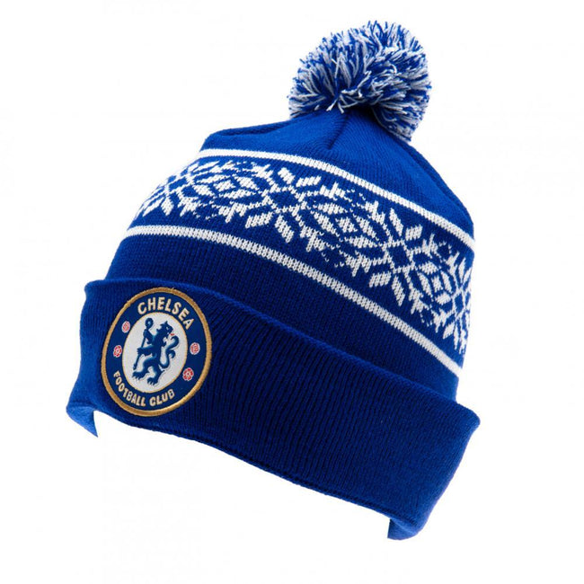 Blue-White - Front - Chelsea FC Unisex Adults SF Ski Hat