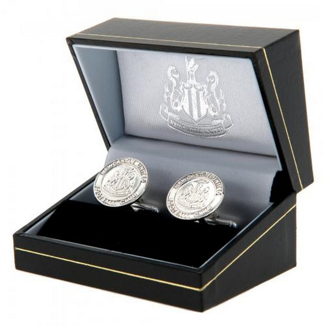 Silver - Back - Newcastle United FC Sterling Silver Cufflinks