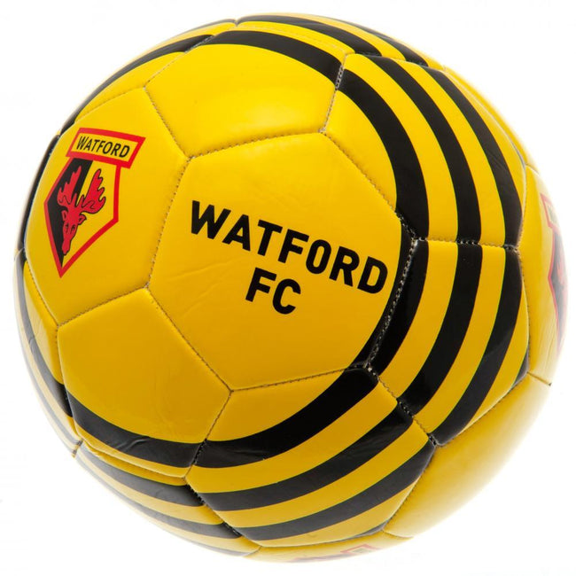 Yellow-Black - Front - Watford FC Soccer Ball