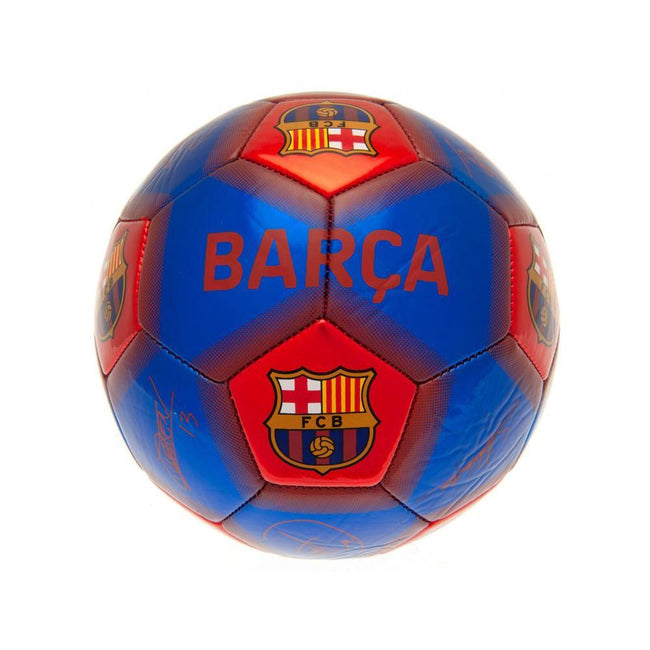 Blue-Red - Front - FC Barcelona Signed Skill Football
