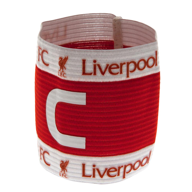 Red-White - Front - Liverpool FC Official Captains Arm Band