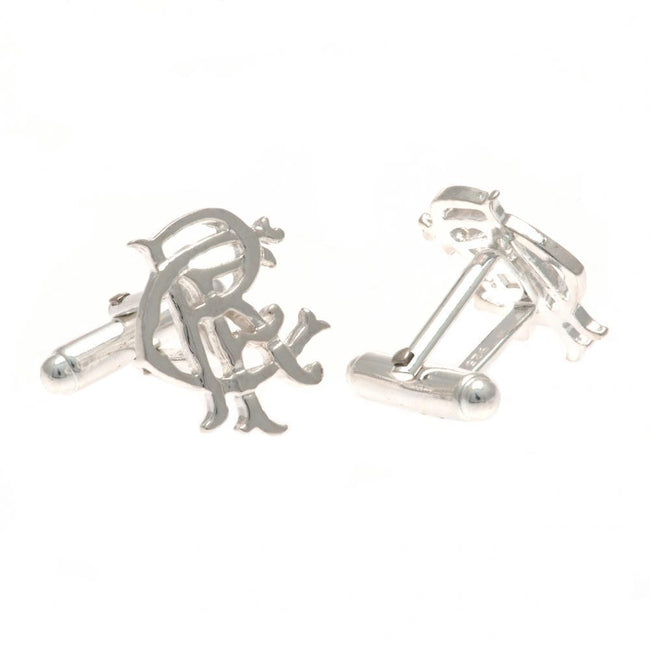 Silver - Front - Rangers FC Sterling Silver Cufflinks