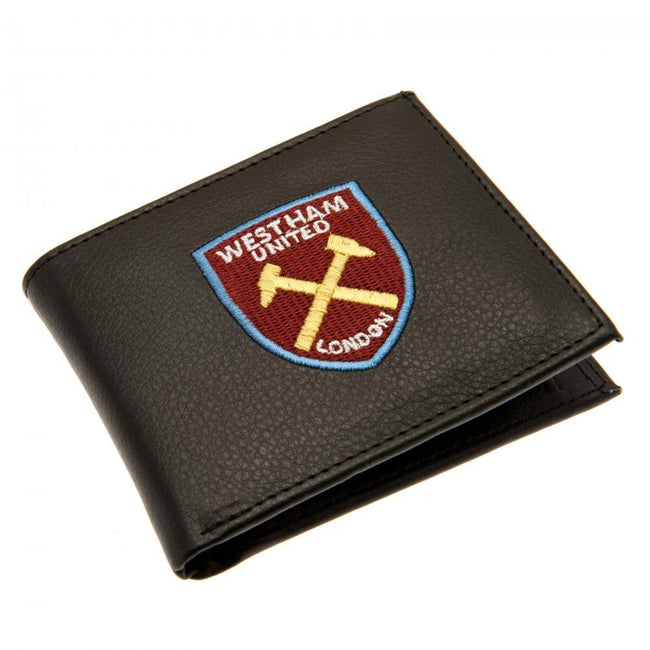 Black - Front - West Ham United FC Embroidered Wallet
