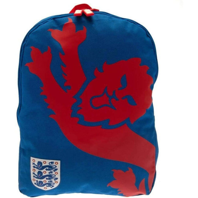 Blue-Red - Front - England FA Lion Backpack