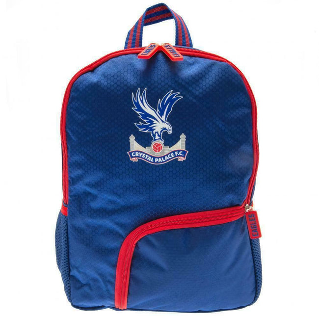 Royal Blue-Red-White - Front - Crystal Palace FC Childrens-Kids Backpack