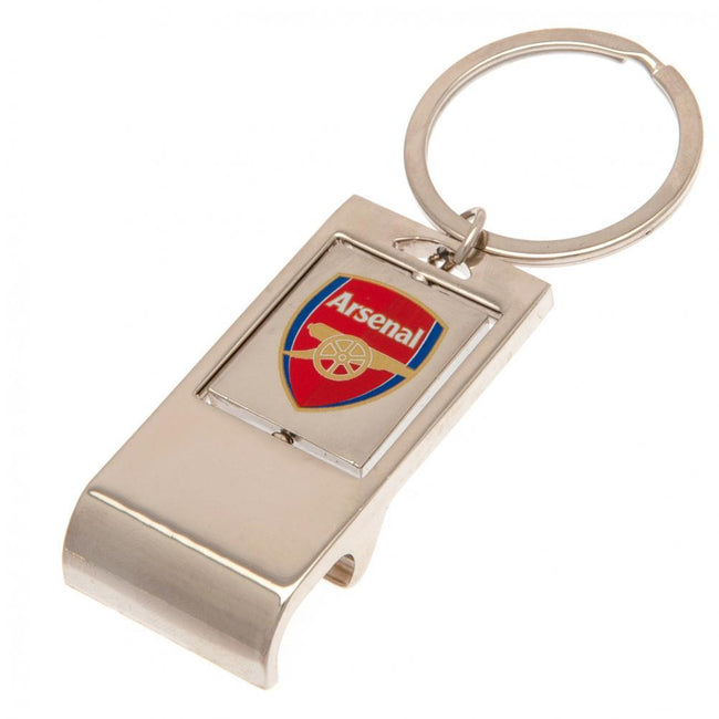 Silver-Red - Front - Arsenal FC Executive Bottle Opener Keyring
