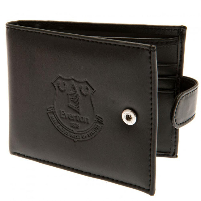 Black - Front - Everton FC RFID Anti Fraud Wallet