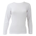 White - Front - FLOSO Ladies-Womens Thermal Underwear Long Sleeve T-Shirt-Top