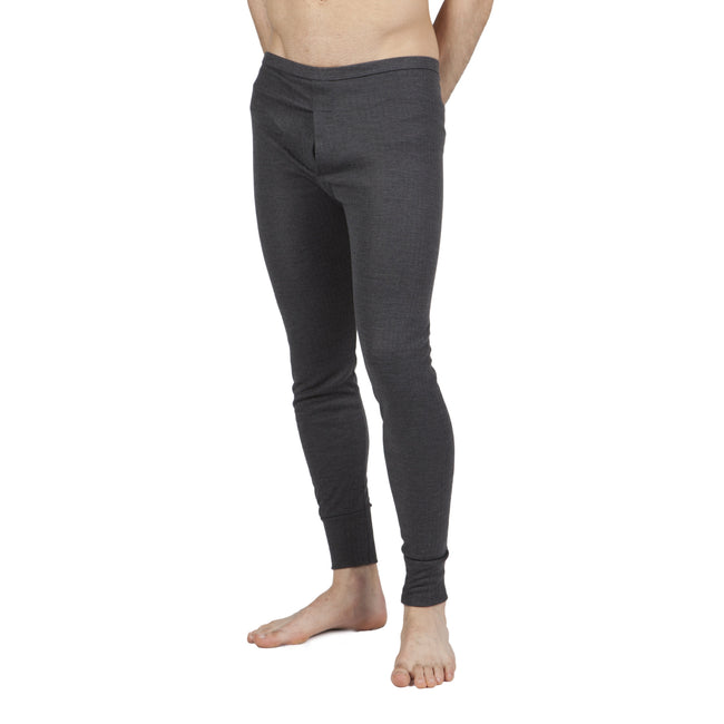 Charcoal - Front - Mens Thermal Underwear Long Johns (British Made)