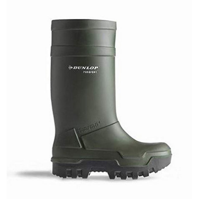 Green - Back - Dunlop Adults Unisex Purofort Thermo Plus Full Safety Wellies