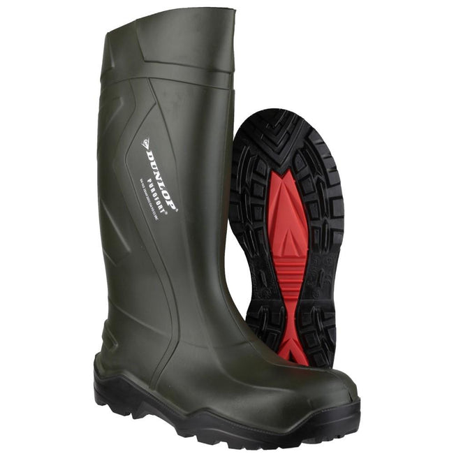 Green - Pack Shot - Dunlop Adults Unisex Purofort Plus Wellies