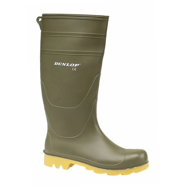 Green - Back - Dunlop Mens Unisex Universal Wellies