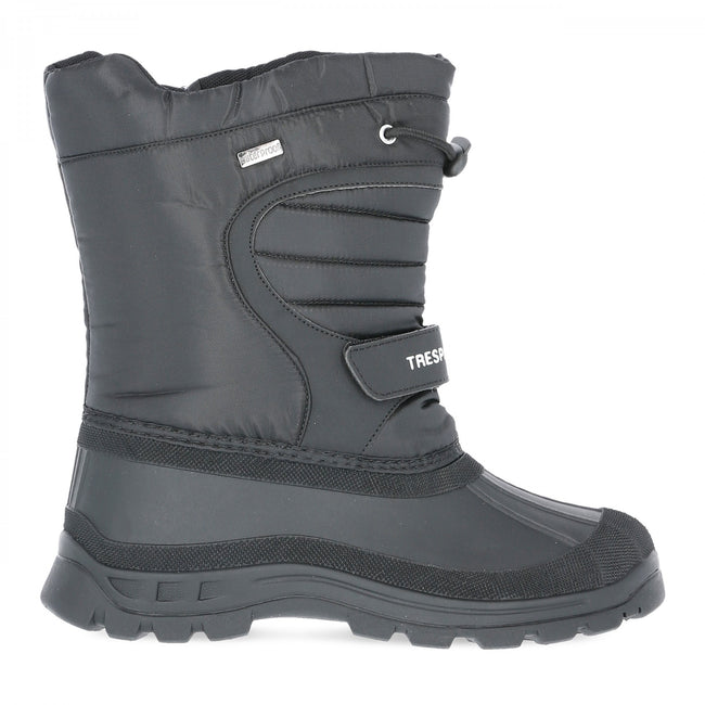 Black - Back - Trespass Youths Big Boys-Girls Dodo Waterproof Winter Snow Boots
