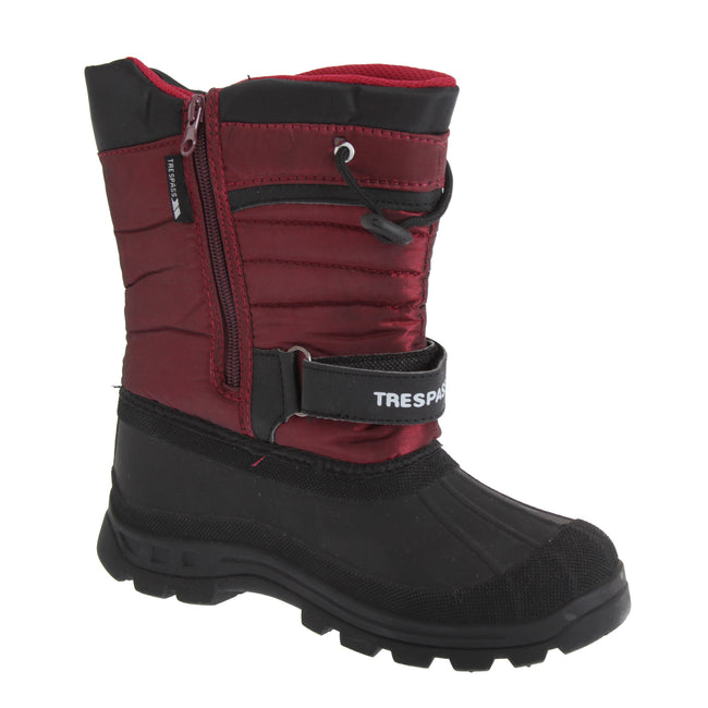 Red - Front - Trespass Youths Big Boys-Girls Dodo Waterproof Winter Snow Boots