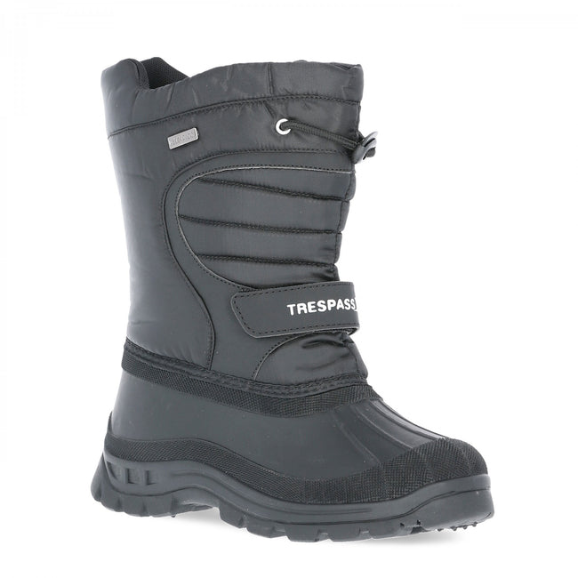 Black - Front - Trespass Youths Big Boys-Girls Dodo Waterproof Winter Snow Boots