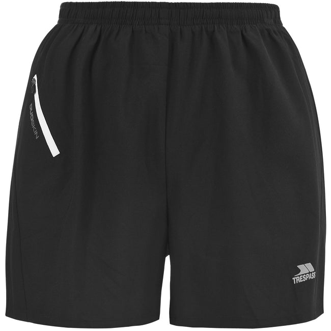 Black - Front - Trespass Womens-Ladies Overdrive Sport Shorts