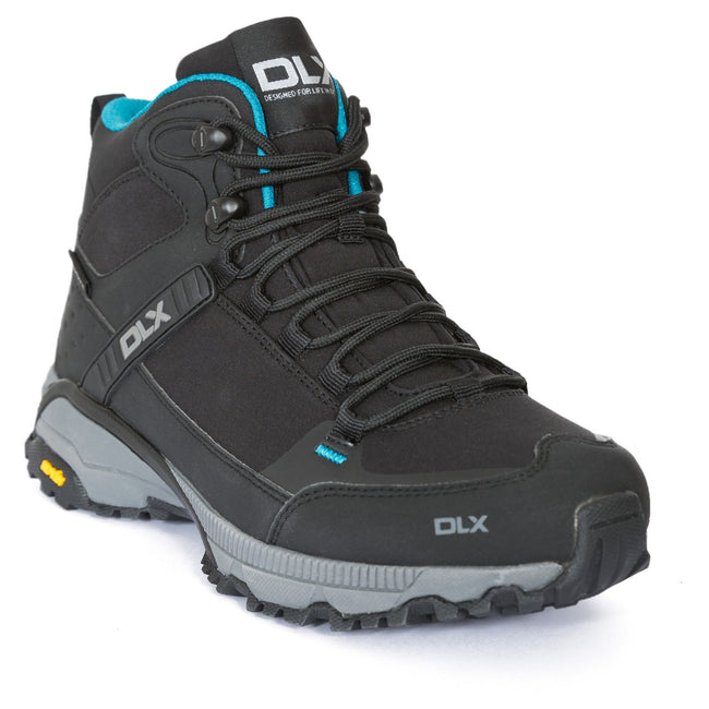 Black - Front - Trespass Womens-Ladies Nomad DLX Walking-Hiking Boots
