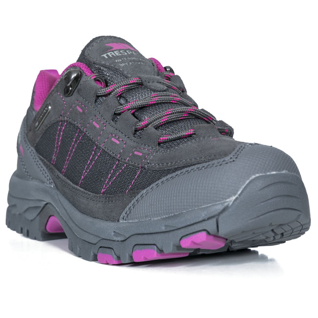 Brindle - Front - Womens-Ladies Scree Lace Up Technical Walking Shoes