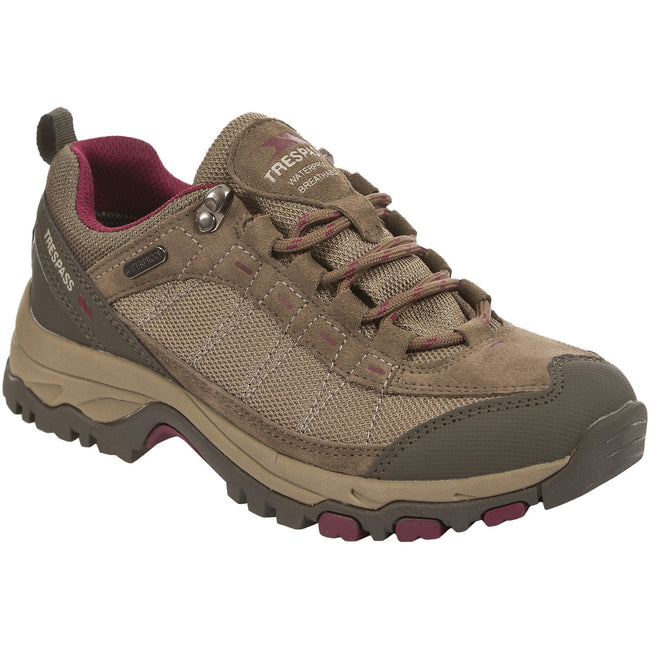 Brindle - Back - Womens-Ladies Scree Lace Up Technical Walking Shoes
