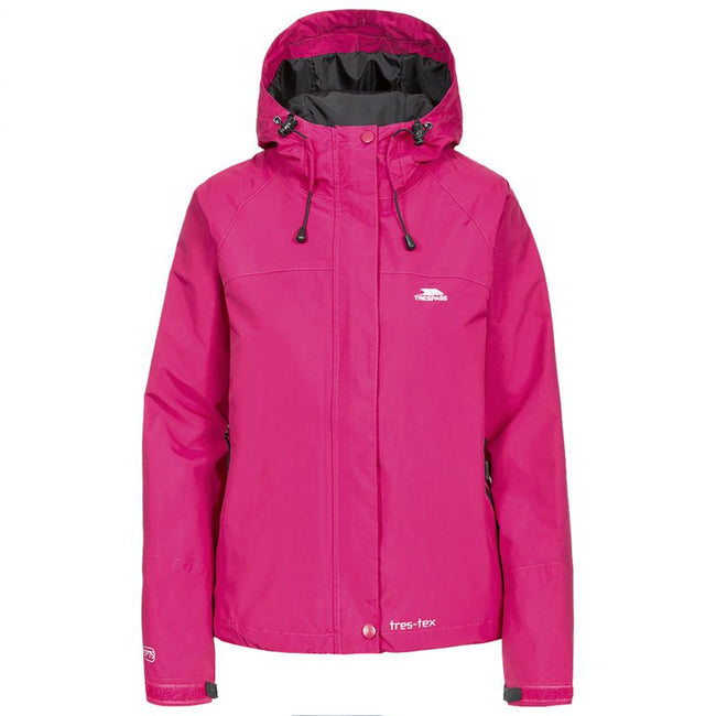 Cerise - Front - Trespass Womens-Ladies Florissant Hooded Waterproof Jacket