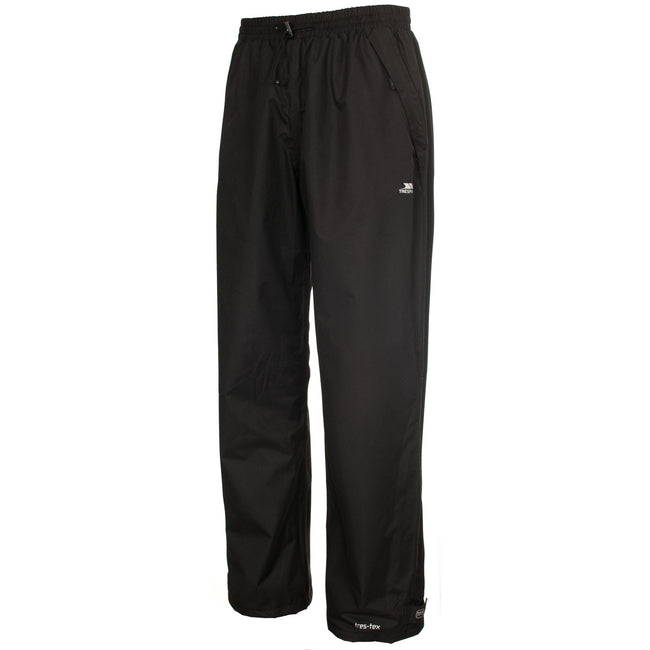 Black - Back - Trespass Mens Toliland Waterproof & Windproof Trousers