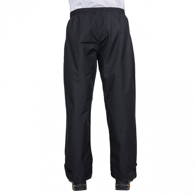 Black - Side - Trespass Mens Toliland Waterproof & Windproof Trousers