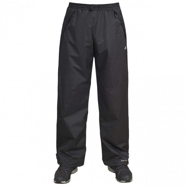 Black - Front - Trespass Mens Toliland Waterproof & Windproof Trousers