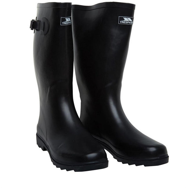 Black - Lifestyle - Trespass Recon X Mens Waterproof Rubber Wellington Boots