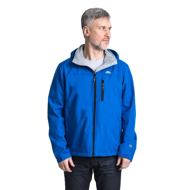 Electric Blue - Front - Trespass Mens Stanford Softshell Jacket