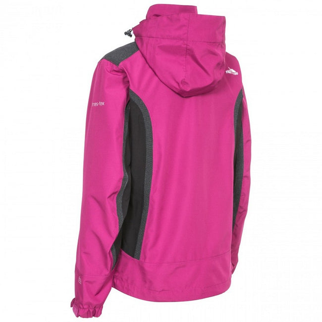 Azalea - Back - Trespass Womens-Ladies Amara Waterproof Outdoor Jacket With Detachable Hood