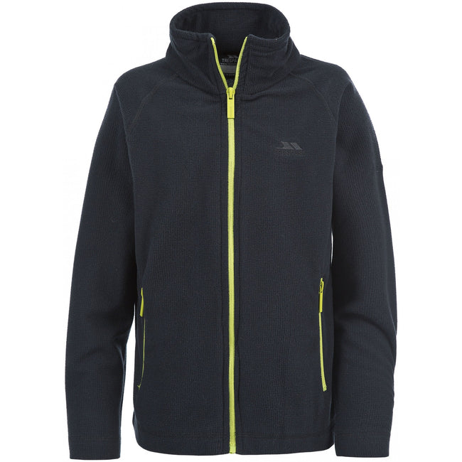 Black - Front - Trespass Childrens Boys Wayne Full Zip Fleece Jacket