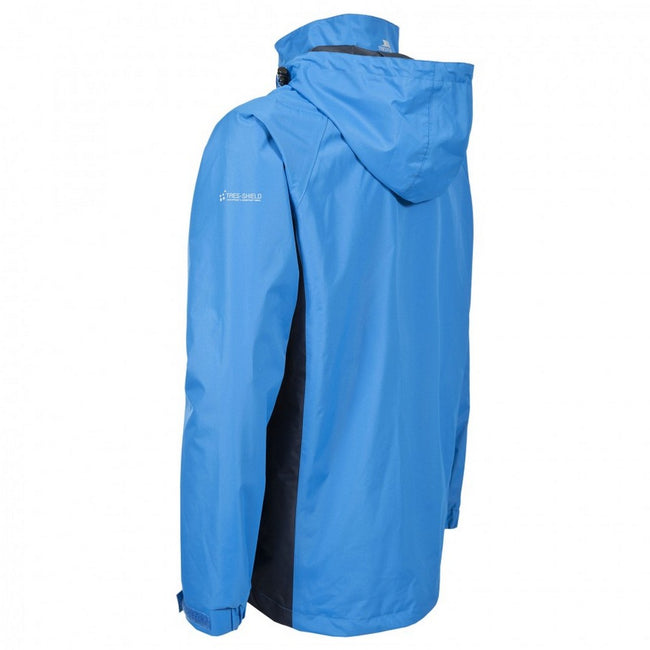 Bright Blue - Back - Trespass Mens Rogan II Waterproof Jacket