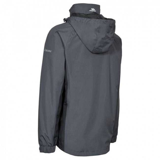 Flint - Back - Trespass Mens Rogan II Waterproof Jacket