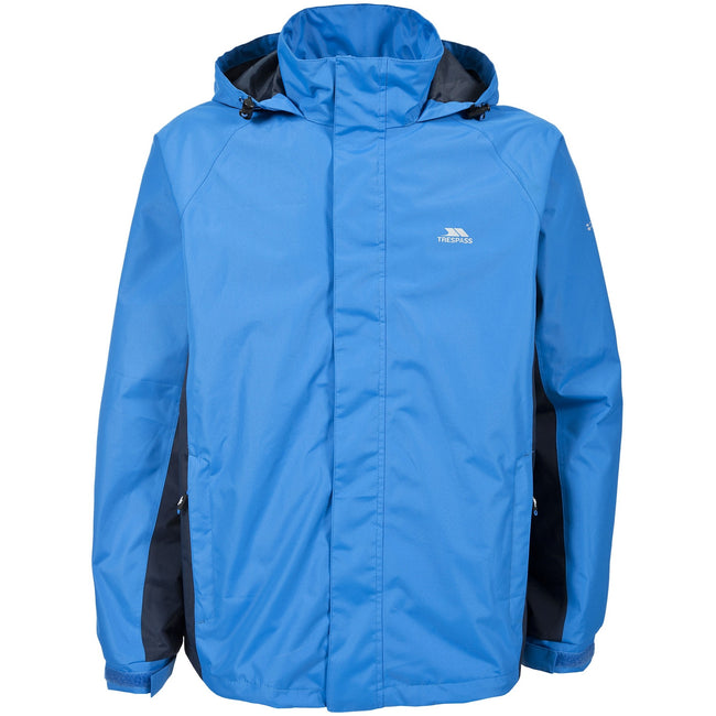 Bright Blue - Front - Trespass Mens Rogan II Waterproof Jacket